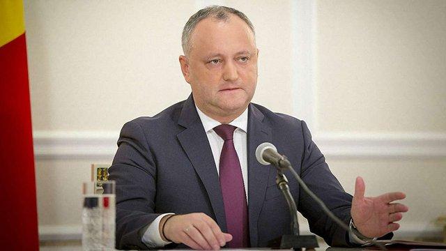 Конституційний суд Молдови призупинив повноваження президента Додона