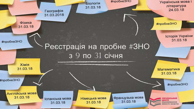 В Україні з 9 січня починається реєстрація на пробне ЗНО