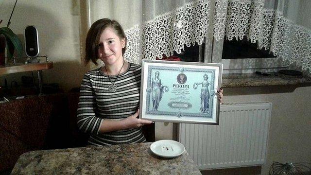15-річна львів'янка потрапила до Книги рекордів України з мініатюрним тортом «Спартак»