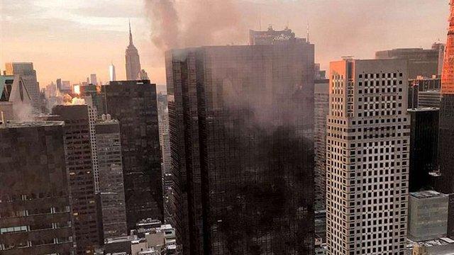 Унаслідок задимлення у хмарочосі Дональда Трампа у Нью-Йорку постраждало двоє людей
