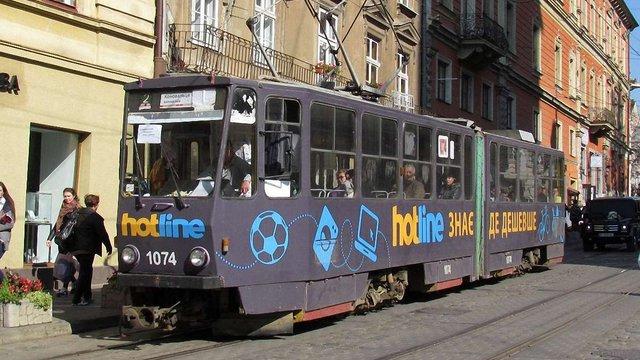 «Львівелектротранс» вперше виставив на аукціон рекламні площі на трамваях