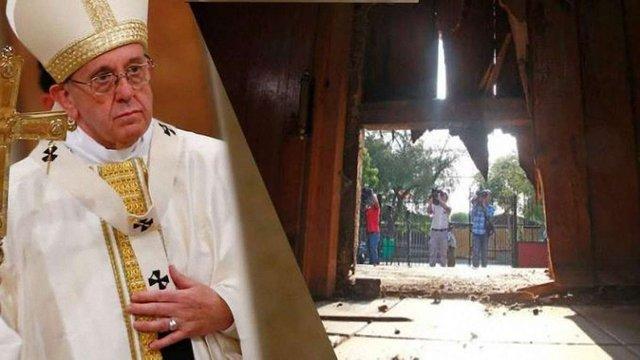 Напередодні візиту Папи Римського у столиці Чилі сталася низка вибухів біля католицьких храмів