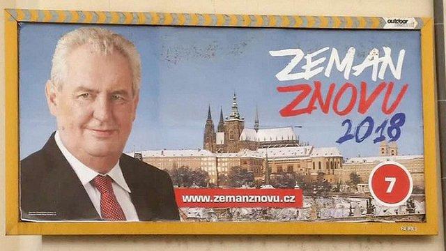 Мілош Земан лідирує на виборах президента Чехії