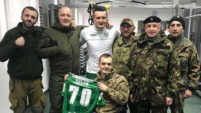 Бійці АТО зустрілися з гравцями «Карпат»