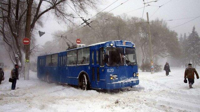 Одесу паралізував сильний снігопад