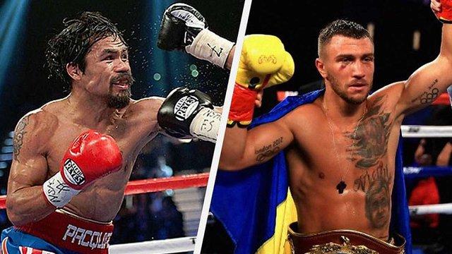 Легенда світового боксу Менні Пак'яо хоче битися із українцем Василем Ломаченком