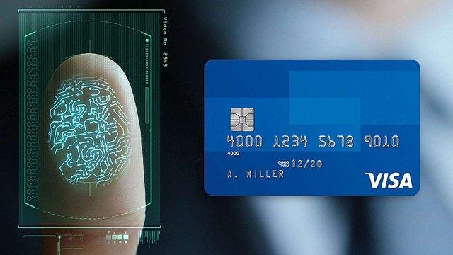 VISA запустила банківські картки з вбудованим відбитком пальця
