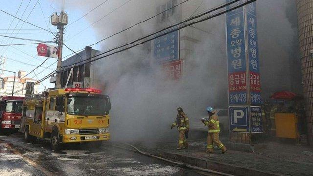 Більш ніж 40 людей загинули під час пожежі у лікарні в Південній Кореї