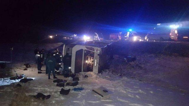 В Ростовській області Росії розбився пасажирський автобус: четверо загиблих