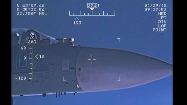 ВМС США показали відео небезпечних маневрів російського Су-27 над Чорним морем