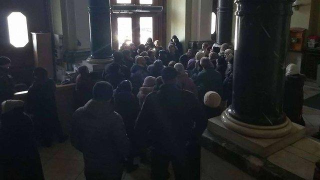 Прихожани згорілої у Львові церкви УПЦ МП вимагали розслідування в ЛОДА і мерії