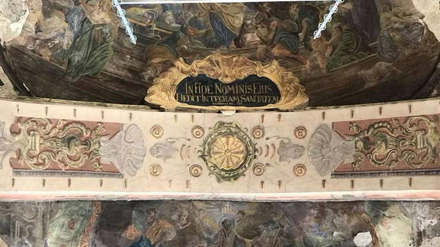 У львівському гарнізонному храмі відреставрують ще 1000 м² стінопису