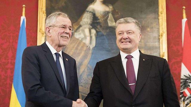 Порошенко подякував Австрії за підтримку українських пропозицій щодо миротворців ООН на Донбасі