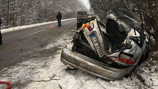 На Сокальщині загинув водій автомобіля, який злетів у кювет