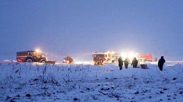 Пасажири літака Ан-148, що розбився в Підмосков'ї, були жителями Оренбурзької області