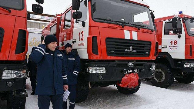 Львівські рятувальники отримали п'ять нових пожежних машин
