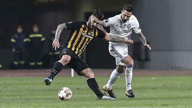 Динамо та АЕК зіграли у нічию в першому матчі 1/16 Ліги Європи