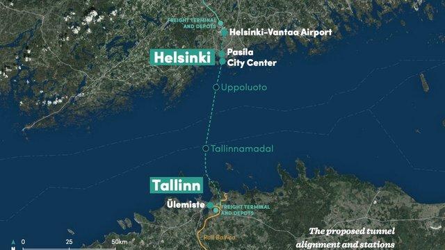 Естонія і Фінляндія планують збудувати найдовший у світі підводний залізничний тунель