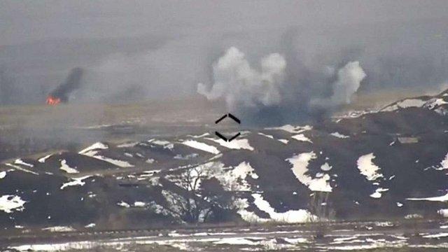 Українські військові знищили ворожу БМП під окупованим Докучаєвськом
