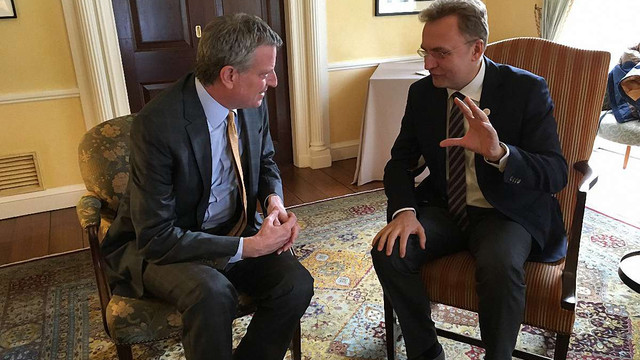 Під час візиту до США Андрій Садовий зустрівся з мером Нью-Йорка