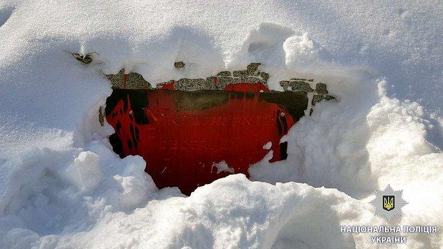 У Харкові вандали облили червоною фарбою пам'ятник героям УПА