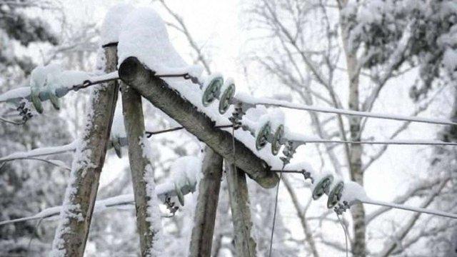 Через сильний сніг на Волині без світла залишились 19 населених пунктів