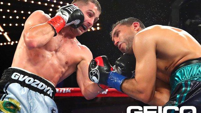 Українець Олександр Гвоздик переміг в бою за титул тимчасового чемпіона світу за версією WBC