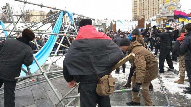 На майдані Незалежності у Києві затримали двох учасників мітингу