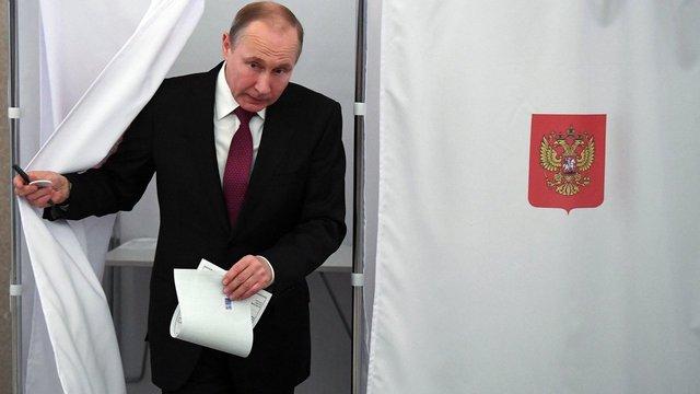 На виборах президента РФ Володимир Путін отримав понад 70% голосів