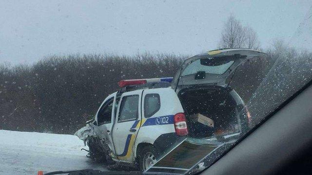 На Львівщині трапилась ДТП за участі авто поліції