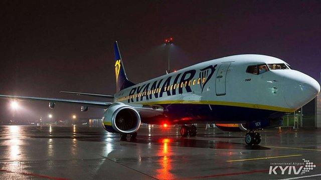 Ryanair має намір з жовтня запустити польоти за 15-ма маршрутами з Києва і Львова