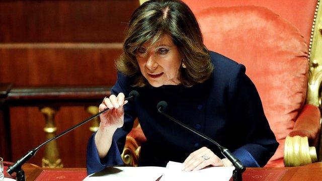 Сенат Італії вперше в історії очолила жінка