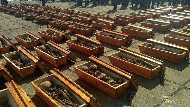 В Івано-Франківську перепоховали 134 жертви комуністичного терору