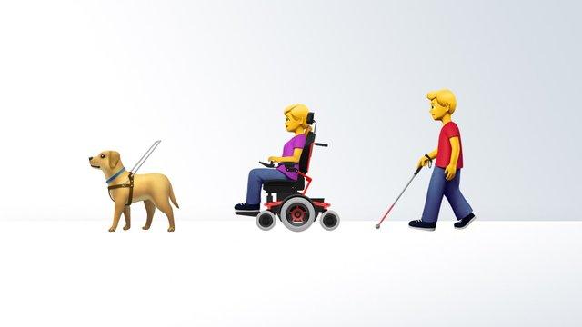 Apple запропонувала дизайни емодзі з зображенням інвалідності