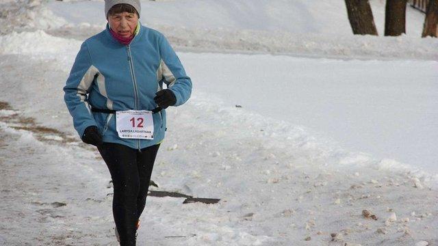 69-річна львів'янка пробігла 212 км у зимовому ультрамарафоні