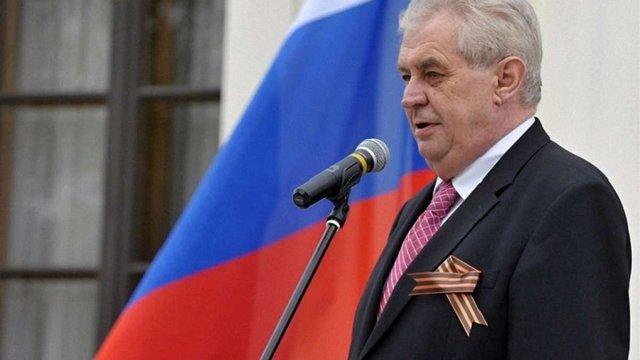 Парламентарі у Чехії звинуватили президента Земана в держзраді