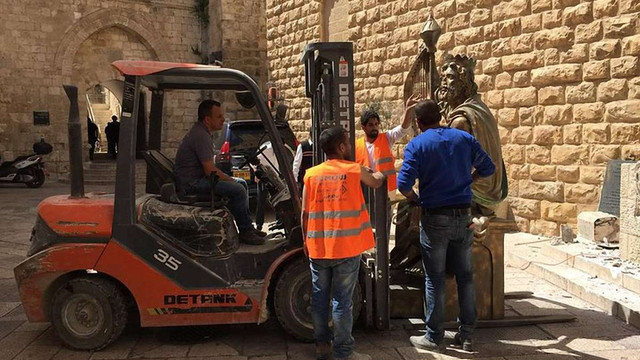 На Святій горі в Єрусалимі демонтували подаровану росіянами статую царя Давида