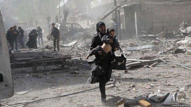 У 500-та постраждалих при бомбардуванні в Сирії ВОЗ підтвердила симптоми отруєння хімією