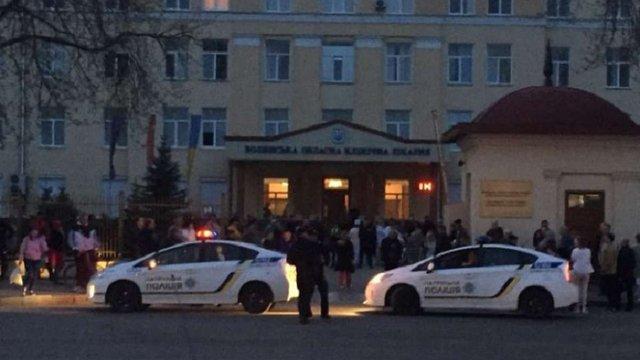 Через повідомлення про бомбу із лікарні в Луцьку евакуювали 750 пацієнтів