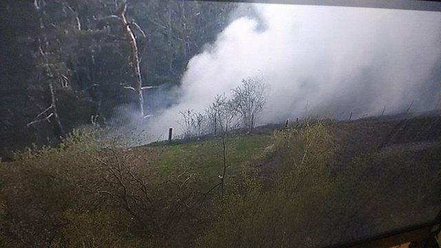 Неподалік Грибовицького сміттєзвалища спалахнула пожежа
