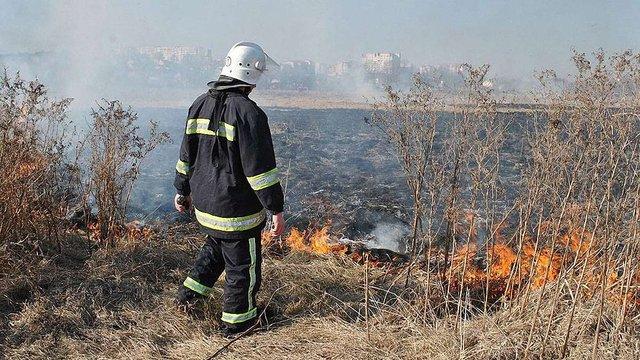 У вихідні на Львівщині виникло більше 20 пожеж сухостою і торфу