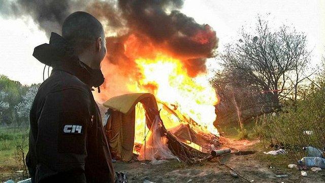 У поліції Києва заявили, що на Лисій горі спалили сміття, а не ромський табір