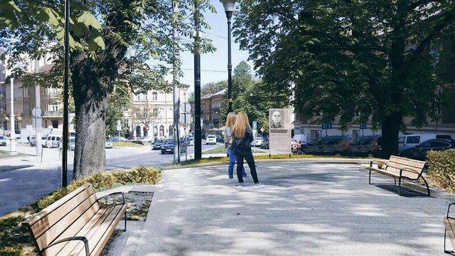У Львові відремонтують площу Яцека Куроня