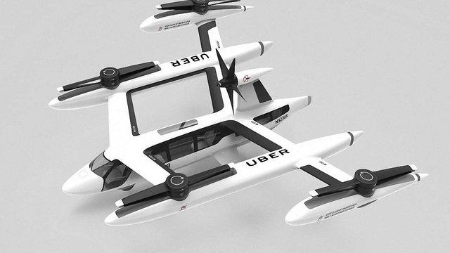 Uber почав співпрацювати з армією США та NASA у розробках «літаючого таксі»