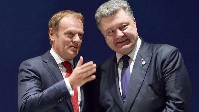 Порошенко і Туск домовилися про проведення ювілейного саміту «Україна - ЄС»