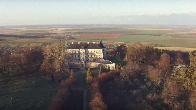 Найвідоміші замки Львівщини зняли на відео з висоти пташиного польоту