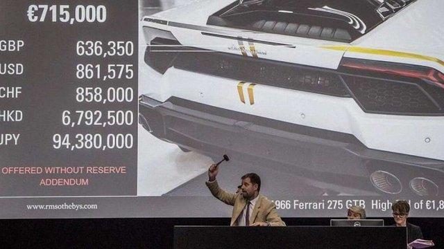 Папа Франциск продав на аукціоні Sotheby's свій Lamborghini Huracan за €715 тис.