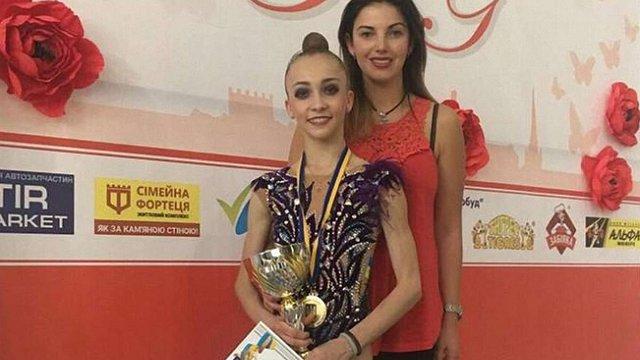 15-річна львів'янка Христина Погранична вдруге стала чемпіонкою України з художньої гімнастики