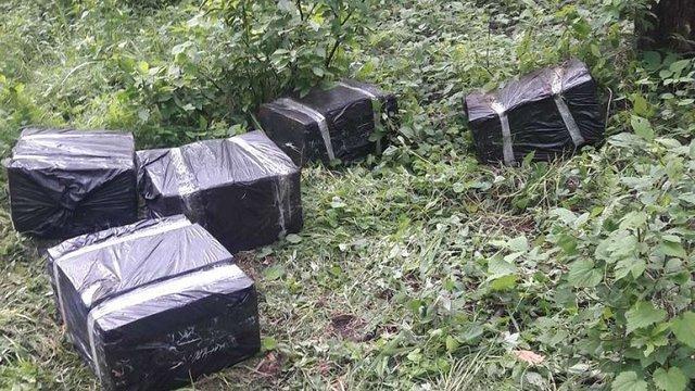 Львівські прикордонники виявили партію контрабандних сигарет у лісосмузі поблизу кордону