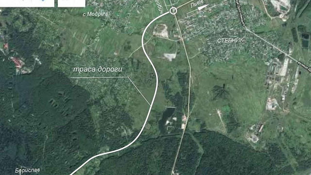 Проект будівництва дороги в обхід провалля біля Трускавця подали на державну експертизу